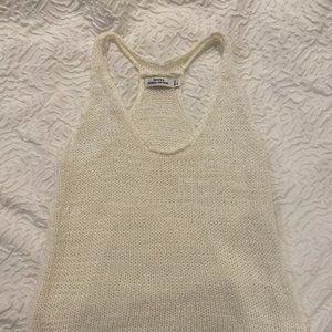 Bershka White Knit Tank